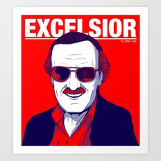 Stan Lee / Excelsior Art Print
