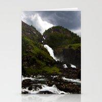 Norwegian Waterfalls Stationery Cards