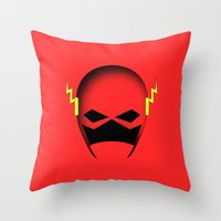 The Cowl: The Flash Throw Pillow