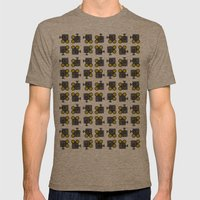 camera 01 pattern Mens Fitted Tee Tri-Coffee SMALL