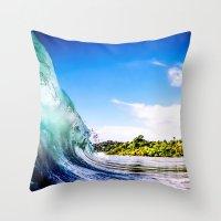 Tropical Wave Throw Pillow