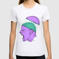 Brain Stain Womens Fitted Tee Ash Grey SMALL