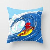octosurfer Throw Pillow