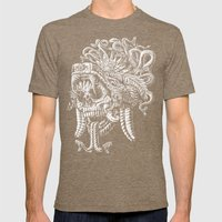 Serpent Warrior Mens Fitted Tee Tri-Coffee SMALL