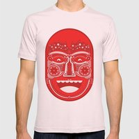 Red Is Mad Mens Fitted Tee Light Pink SMALL