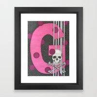 Pink Skull G Framed Art Print
