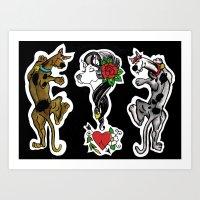 Scooby Doo Vs Scooby Dum… Art Print
