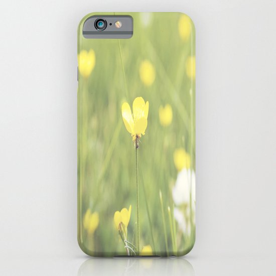 Yellow Flowers in a Field  iPhone & iPod Case