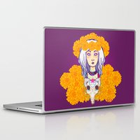day of the dead Laptop & iPad Skins featuring Day of the Dead by Andrea Estrada