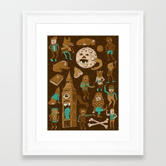 Wow! Werewolves!  Framed Art Print