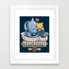 Alphonse's Cat Sanctuary Framed Art Print