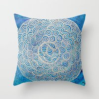Throw Pillow featuring Neptune by Renee Trudell