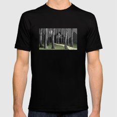 The forest Black SMALL Mens Fitted Tee