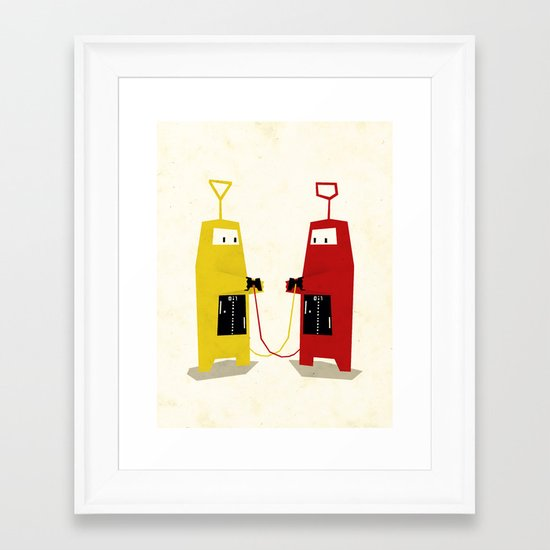 Let's play a game! Framed Art Print