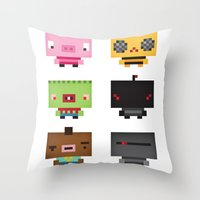 Boxies Throw Pillow