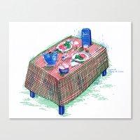 Table Canvas Print