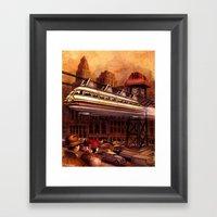 Monorail Framed Art Print
