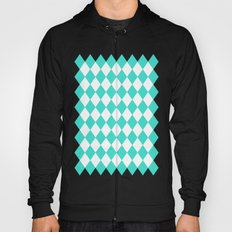 Diamonds (Turquoise/White) Hoody