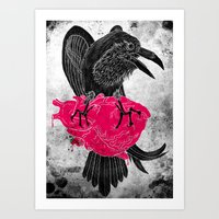 The Tell-Tale Raven Art Print