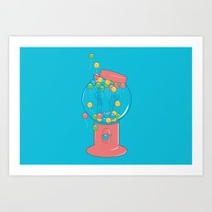 Balloon, Gumball Art Print