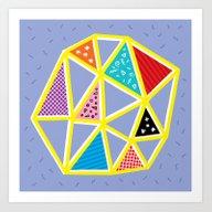Art Print featuring Geometric  by Oliver Lake