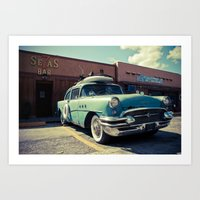 The Buick (brown Edition… Art Print