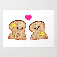Toasty Love Art Print