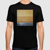 Shark infested breadboard Mens Fitted Tee Black SMALL