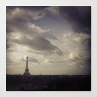 Canvas Print featuring Ah, Paris! by Rachel Logan