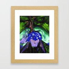 Passion green Framed Art Print