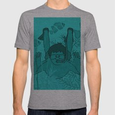 Snorkeling Among Underwater Friends Mens Fitted Tee Athletic Grey SMALL