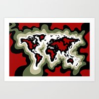 Map of the World, Classic View Art Print