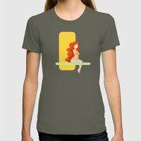 Cute red head pin-up / Mignonne pin-up rousse Womens Fitted Tee Lieutenant SMALL