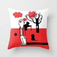 SILENCE IN THE PARK Throw Pillow