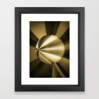 Sol Adentro, obscuro Framed Art Print