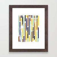 Stripey Framed Art Print