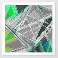 ∆Green Art Print