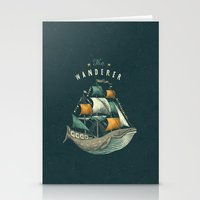 whale Stationery Cards featuring Whale | Petrol Grey by Seaside Spirit