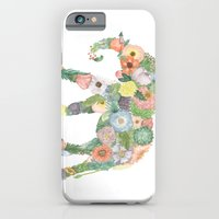 iPhone & iPod Case featuring Elephlower by Girl + Parrot