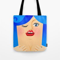 Lola Blue Tote Bag