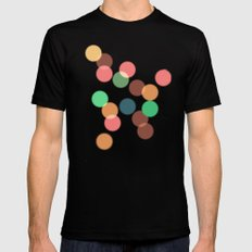 Round bokeh Mens Fitted Tee Black SMALL