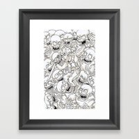 Surround Framed Art Print