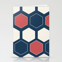 Hexed Navy Stationery Cards