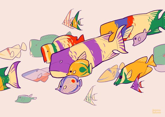 Kuih Ikan Art Print