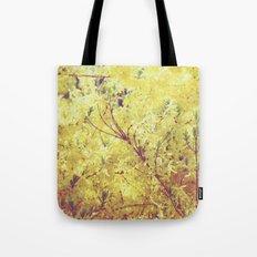 yellow flower - Forsythia Tote Bag