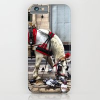 iPhone & iPod Case featuring We get along like pigeons and horses. by John Martino