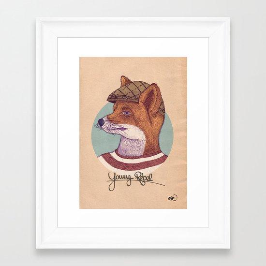 Young Rebel Framed Art Print