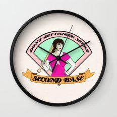 Don´t let cancer steal second base Wall Clock