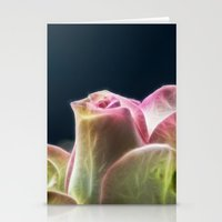 Softness of a rose Stationery Cards