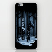 The Walker In The Woods iPhone & iPod Skin